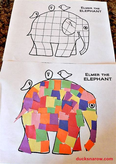 Elmer The Patchwork Elephant Activities - crafts nook