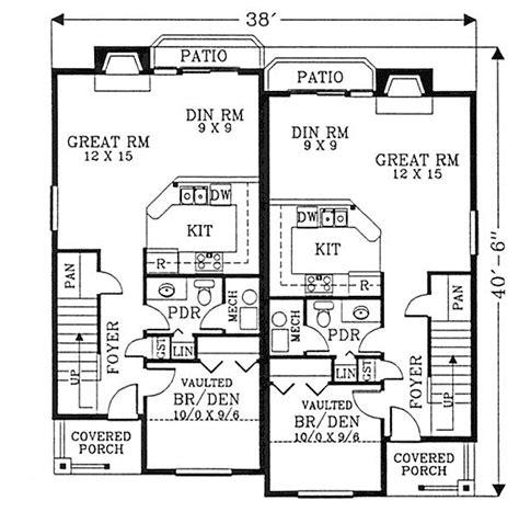 1 Floor Duplex Plans Narrow Lots by Cozy Craftsman Duplex 2879j 2nd Floor Master Suite