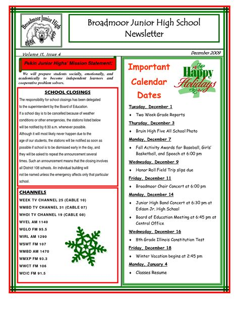 best photos of sle school newsletter templates free