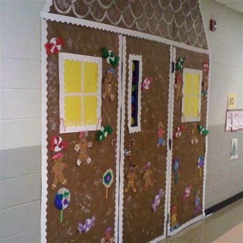 Gingerbread House Door Decorations by Gingerbread House Door Decoration School Ideas