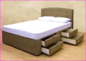 Bed Frames With Storage Underneath Queen Size Bed Frame With Storage Home Design Ideas