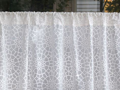 moroccan print curtains white sheer curtain panel moroccan curtain lattice