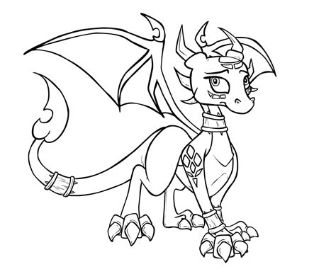 spyro the dragon coloring pages dragoart coloring pages