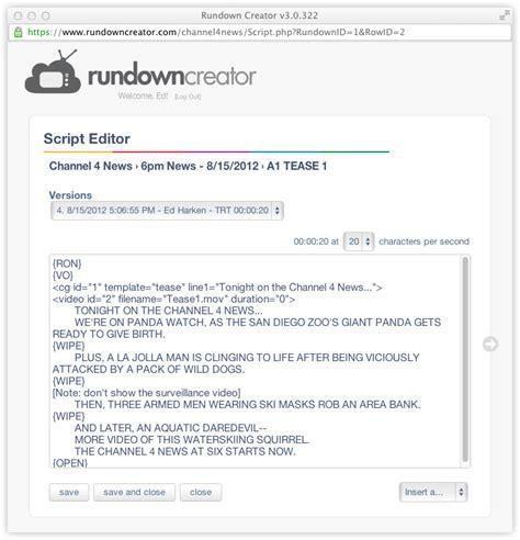 news script template tv news script format exle images