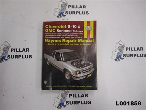 chevy s 10 gmc sonoma pick ups 1994 2004 repair manual espanol spanish h99043 ebay haynes repair book chevrolet s 10 gmc sonoma pick ups 24071