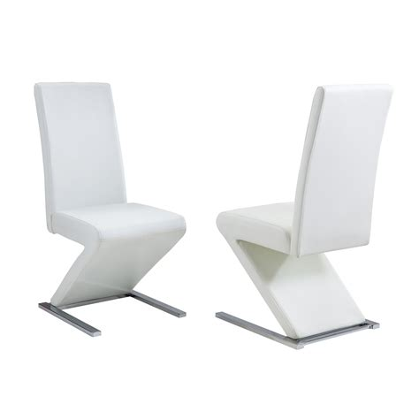 Zen Dining Chairs In White Faux Leather Dining Room Chairs White Faux Leather Dining Chair
