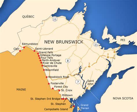 maine canada border map borders of new brunswick