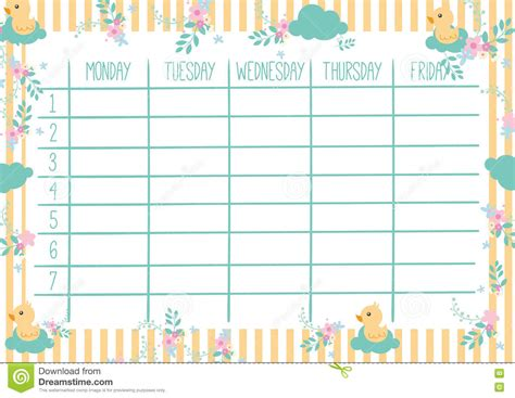9 best images of cute printable weekly planners 2015 cute weekly planner template templates station
