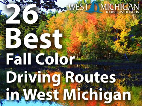 west michigan weekly autumn color tour routes in west
