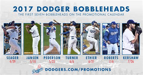 Dodger Game Giveaways 2017 - dodgers announce first seven bobbleheads for 2017 dodger insider