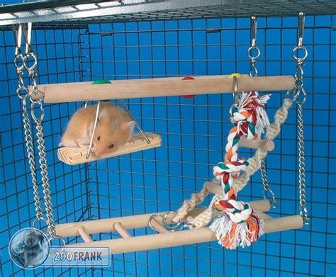 hamsterkäfig 2 etagen hamster br 252 cke mit 2 etagen spielzeug spielt 252 rme
