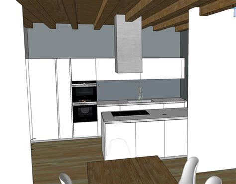 soffitto con travi a vista cappa cucina su soffitto con travi a vista