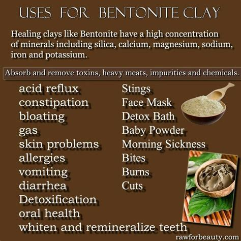 Healing Clays For Detoxing by Uses For Bentonite Clay Health Fitness