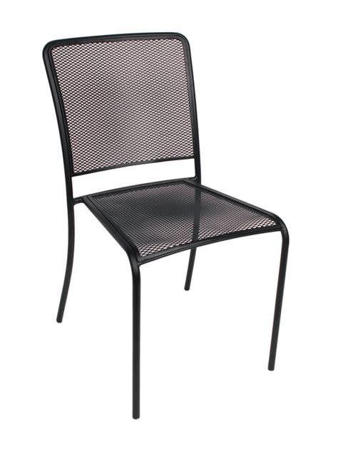 Galvanized Bistro Chair Indoor Outdoor Side Chair W Galvanized Steel Micro Mesh Seat And Back Bar Restaurant