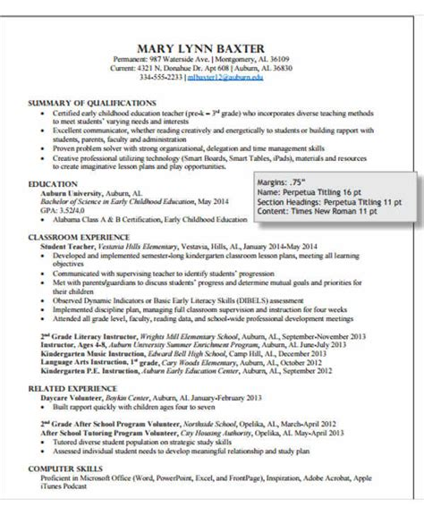 Resume Template Kindergarten by 40 Modern Resume Templates Pdf Doc Free