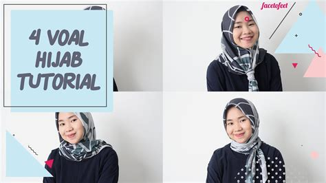 tutorial hijab voal 4 voal hijab tutorial youtube