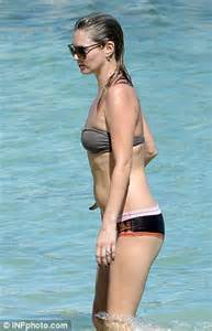 kate moss shows off curvier figure in designer bikini as