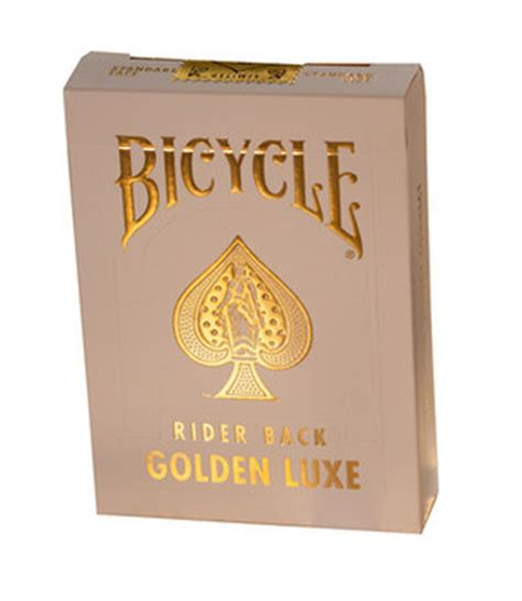 A Deck Of Playing Cards by Bicycle Rider Back Golden Luxe Playing Cards New Deck