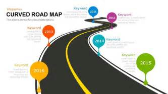 powerpoint map template curved road map powerpoint and keynote template slidebazaar