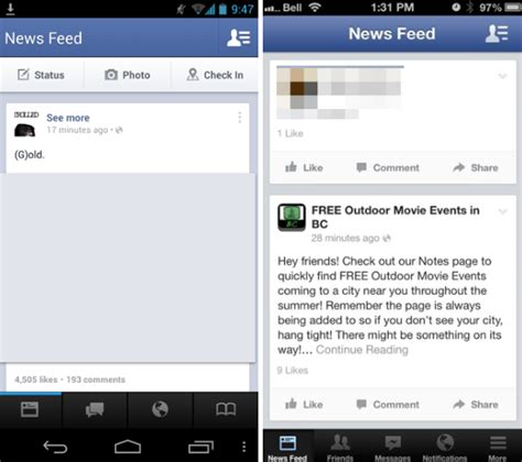 layout android facebook facebook testing bottom menu for ios android apps