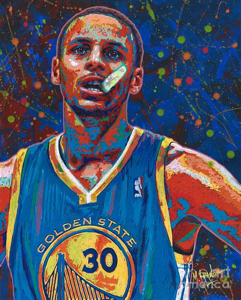 Basketball Wall Mural warrior painting by maria arango