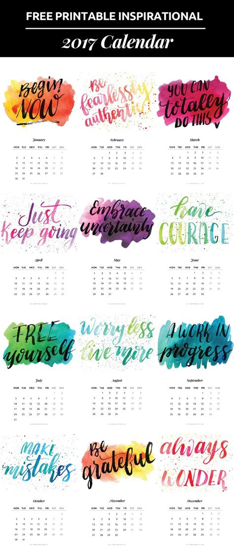 printable daily quotes 25 unique calendar 2017 ideas on pinterest calendar