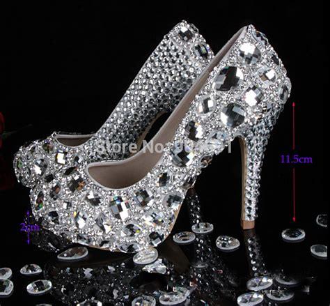 high heels diamonds 2015 custom luxury prom shoes gorgeous