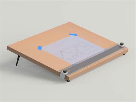 desktop drafting table desktop drafting table 3d model