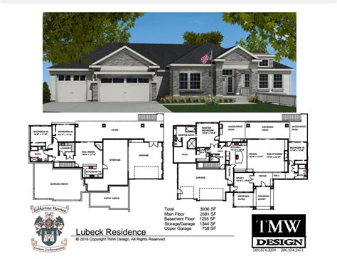 walkout rambler floor plans rambler house plans with walkout basement house plans