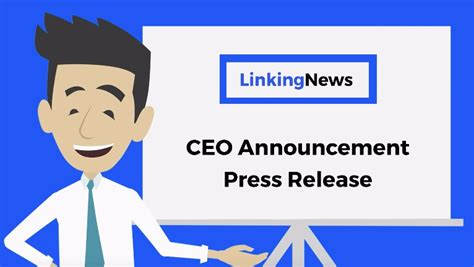 ceo press release template ceo announcement press release format ceo announcement
