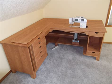 sewing bench red oak sewing table wooden images by phillip