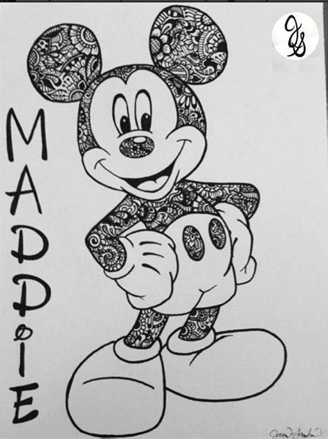 pattern work mandala minnie mouse head by joanne floral printed mickey minnie design by byjamierose on