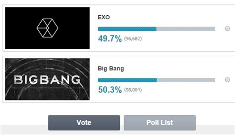 exo vs bts poll bigbang vs exo battle poll voting ends today vote who