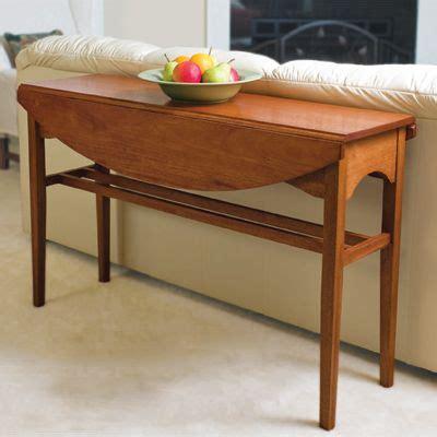 diy drop leaf table build a drop leaf console table diy interior home