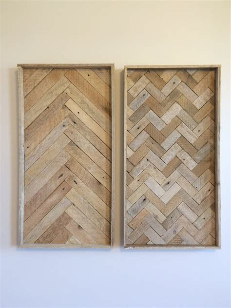 herringbone pattern wall lath wood wall art duo herringbone pattern upcycled