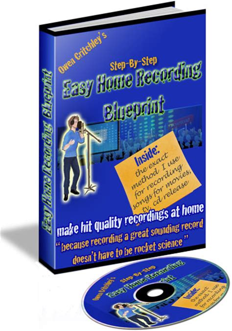 easy blueprint easy home recording blueprint learn how to write songs