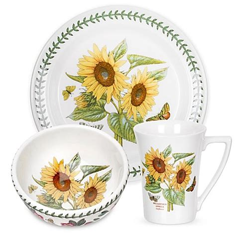 Botanic Garden Portmeirion Dishes Portmeirion 174 Botanic Garden Sunflower Dinnerware Collection Bed Bath Beyond