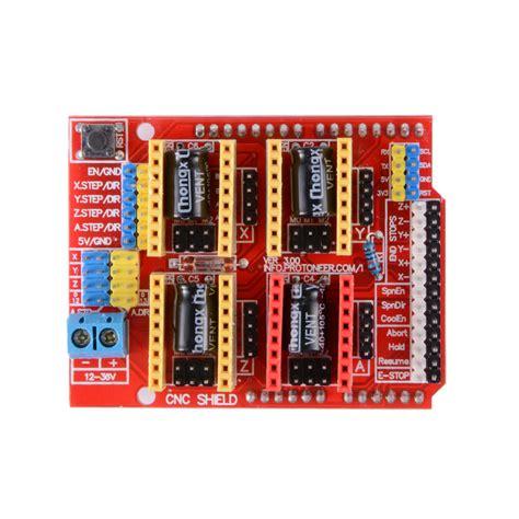cnc shield v3 0 uno r3 4pcs a4988 driver grbl for
