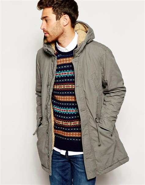 United Colors Benetton Bag Khaki united colors of benetton parka with borg lining united colors of benetton pickture