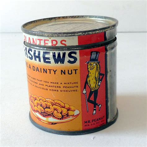 1940s planter s cashew nuts tin mr peanut from