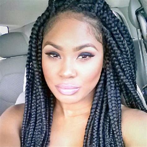 Pics Of Chunky Braided Styles | long chunky braids braids twists pinterest
