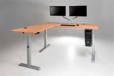 Corner Standing Desk L Shaped Standing Desk Shop Uplift 950 Height Adjustable