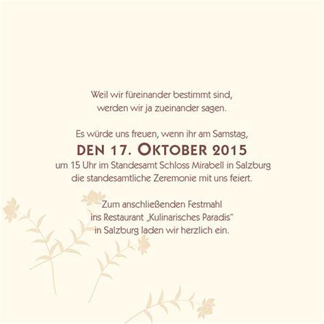 Hochzeitseinladung Standesamt by Einlagekarten Florale Initialen