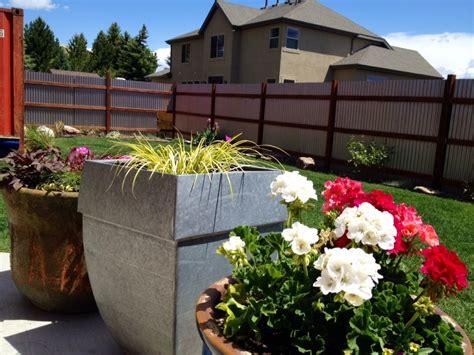 corrugated metal fence update noelle  designs