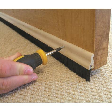 wood brush door bottom sweep wooden draught excluder