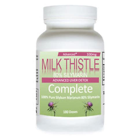 Milk Thistle For Detoxing Liver by Milk Thistle 100mg Milk Thistle Liver Detox Diet 180 Dose