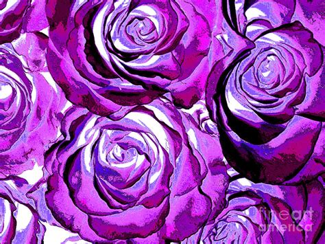 new photographic art print for sale pop art purple roses photograph by toula mavridou messer