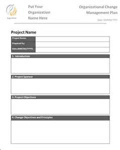 Management Plan Templates Free by Change Management Plan Template Free Printable Word