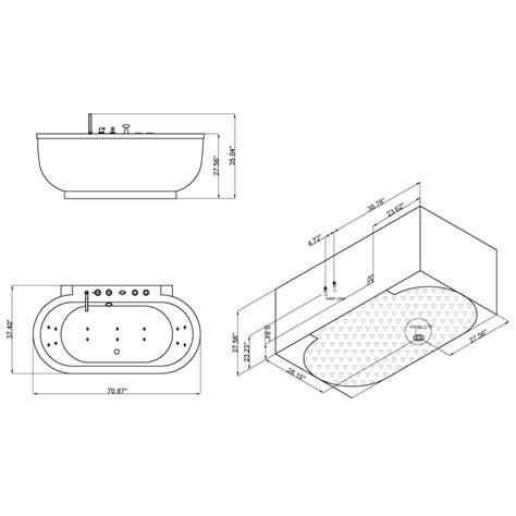 bathtub soaking depth ariel platinum am128jdclz bathtub ariel bath
