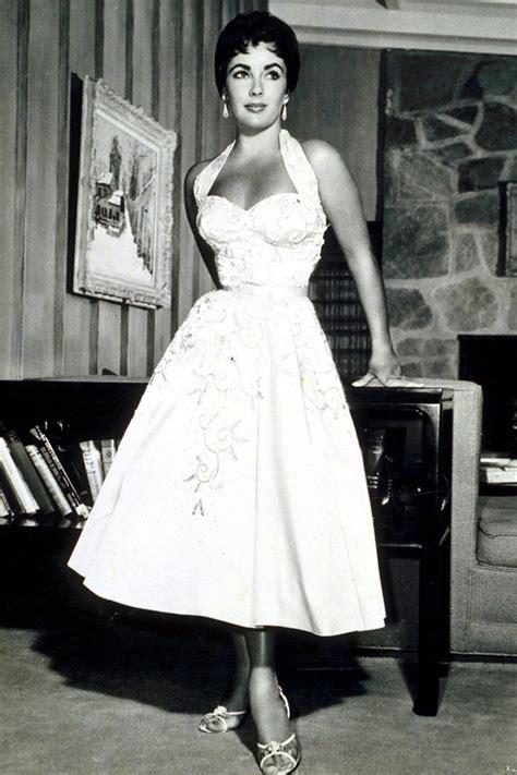 vintage elizabeth taylor 1950s fashion